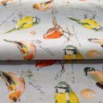 McCulloch and Wallis Bird Print poplin - Buy fab bird-print fabrics