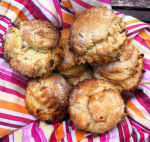 Apricot and walnut scones - Recipe and photo by Adrienne Wyper