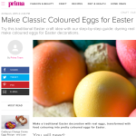 Prima: how to make classic coloured eggs for Easter, by Adrienne Wyper