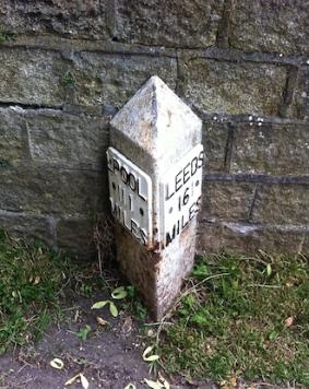 Leeds & Liverpool Canal milepost