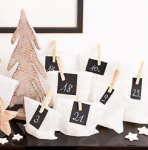 Paper bag and clothes peg advent calendar to make